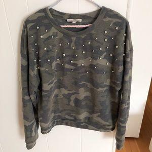 Express One Eleven Camo Pullover Sweater- Small